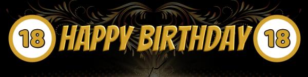 18. Geburtstag | Geburtstagsbanner | Werbebanner | Meshbanner | Mesh | Banner Druck | Banner drucken