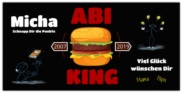 "Abi-Plakat ""ABI-KING"" - Querformat"