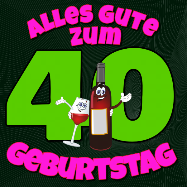 40. Geburtstag | Geburtstagsbanner | Banner zum Geburtstag