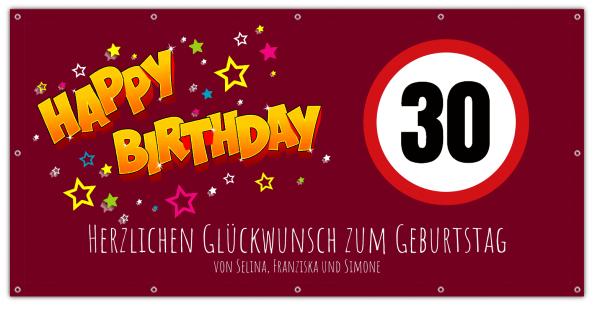 Banner zum Geburtstag 30 Geburtstags-Banner
