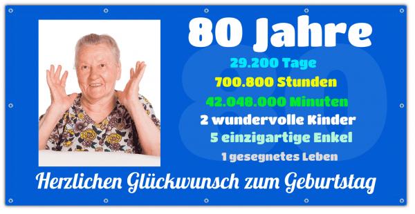 80 Geburtstagsbanner - Zeitstrahl Auf Wunsch