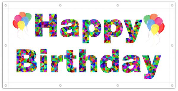 PVC-Banner zum Geburtstag