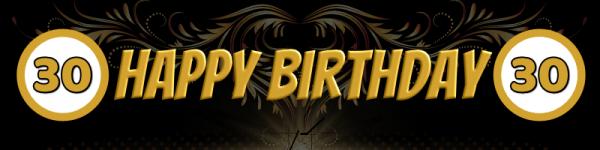 30. Geburtstag | Geburtstags-Banner | Banner zum Geburtstag | Mesh | Werbebanner | Bannerdruck